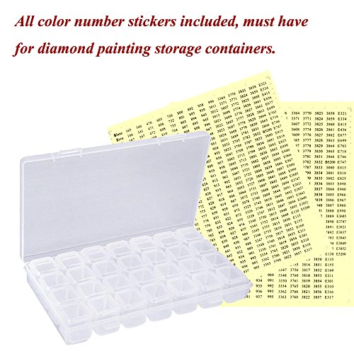 Color Number Stickers, 517 Labels for All Colors, Apply to Diamond Painting Accessory Storage Box, Diamond Painting Kits for Adults and Kids, Self Adhesive (6 Packs)