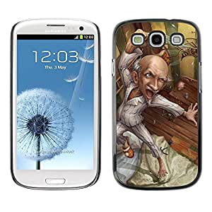 Paccase / SLIM PC / Aliminium Casa Carcasa Funda Case Cover - Grandpa Drawing Healthy Art - Samsung Galaxy S3 I9300