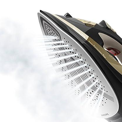 Philips GC4527/00 Dampfbügeleisen Azur Performer Plus (2600 W, 220g Dampfstoß, T-Ionic-Glide Bügelsohle, integrierte Kalkkassette) schwarz/gold 5