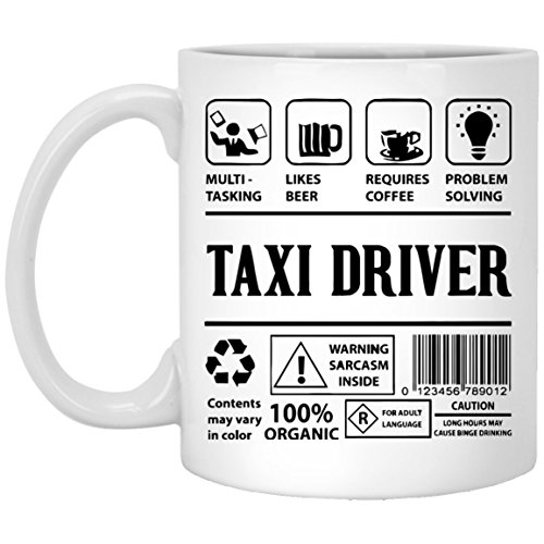 - Taxi Driver Coffee Mug - features and benefits of Taxi Driver - Taxi Driver Gifts for Men, Women,For Aunt, Wife - Cool Birthday Gift for Taxi Driver - 11Oz tea cup White