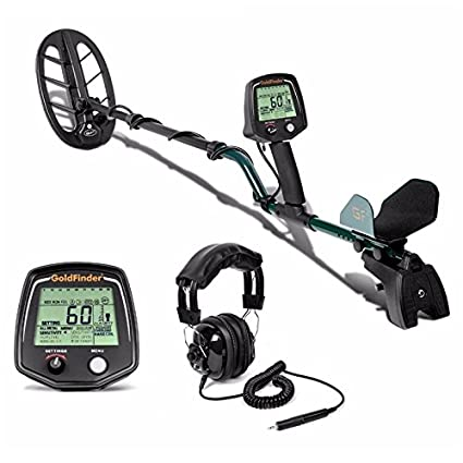 Amazon.com : GIMAX GF2 Underground Metal Detector Treasure Hunter Gold Digger LCD Display Headphone Ultra Sensitivity : Garden & Outdoor