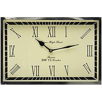 Amazon.com: Creative Co-Op Metal Clock, Turquoise: Home & Kitchen