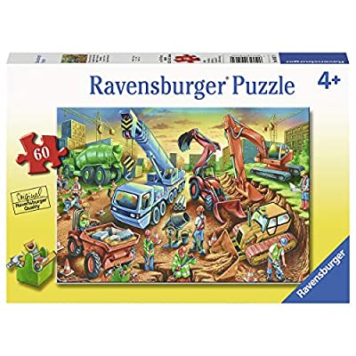 Ravensburger 09517, Construction Crew 60 Piece Puzzle for Kids, Every Piece is Unique, Pieces Fit Together Perfectly: Toys & Games