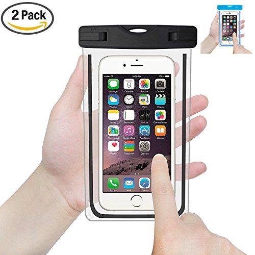 2 Packs Waterproof Phone Case, ELECNEWELL IPX8 Universal Underwater Phone...