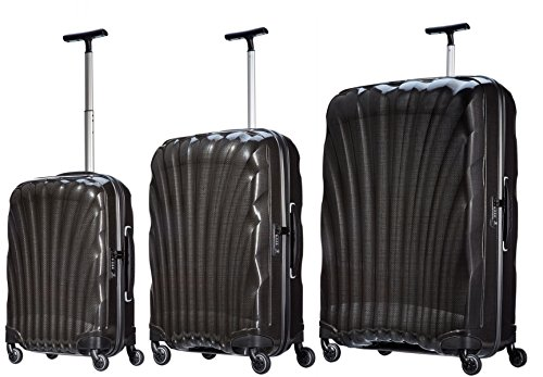 (Samsonite Luggage Black Label Cosmolite 3 Piece Spinner Luggage Set (One size, Black))