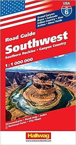 USA Southwest Road Guide Hallwag Amazoncom Books - Rand macnally southwestern us road map