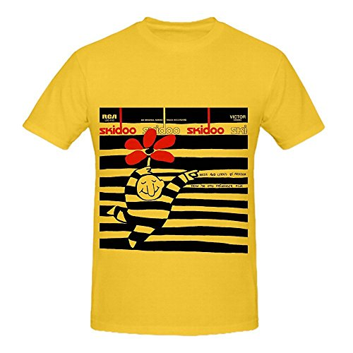 Harry Nilsson Skidoo 80s Mens O Neck Custom Tee Shirts Yellow