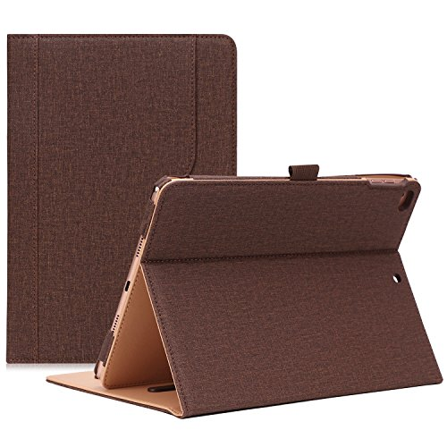 (ProCase iPad 9.7 Case 2018/2017 iPad Case - Stand Folio Cover Case for Apple iPad 9.7 inch, Also Fit iPad Air 2 / iPad Air -Chocolate)
