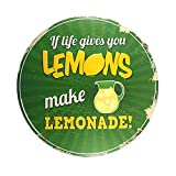 DL- shabby chic Make LEMONADE Round sign Mural painting Retro Gift Metal Craft Hotel Cafe Home decor