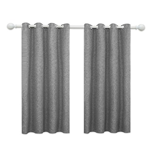 Joywell Blackout Drapes Thermal Insulated Linen Grommet Wind