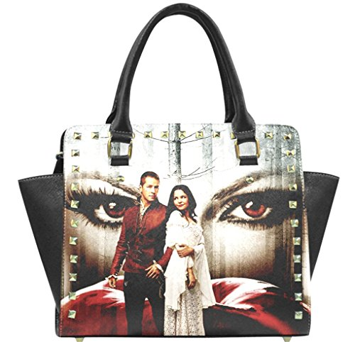 Mary Margaret Blanchard David Nolan Regina Mills Pattern Fashionable Female Women Rivet Shoulder Handbag Cross Body Handbags Pouch (Mary Margaret Once Upon A Time Fashion)