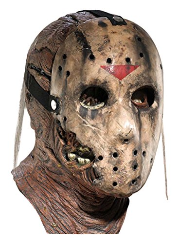 Friday The 13th Part 7 New Blood Jason Voorhees Deluxe Overhead Mask, Gray, One Size (Halloween Film Festival)