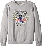 Kenzo Kids Girl's Sweat Classic Tiger (Big Kids) MARL Grey 14