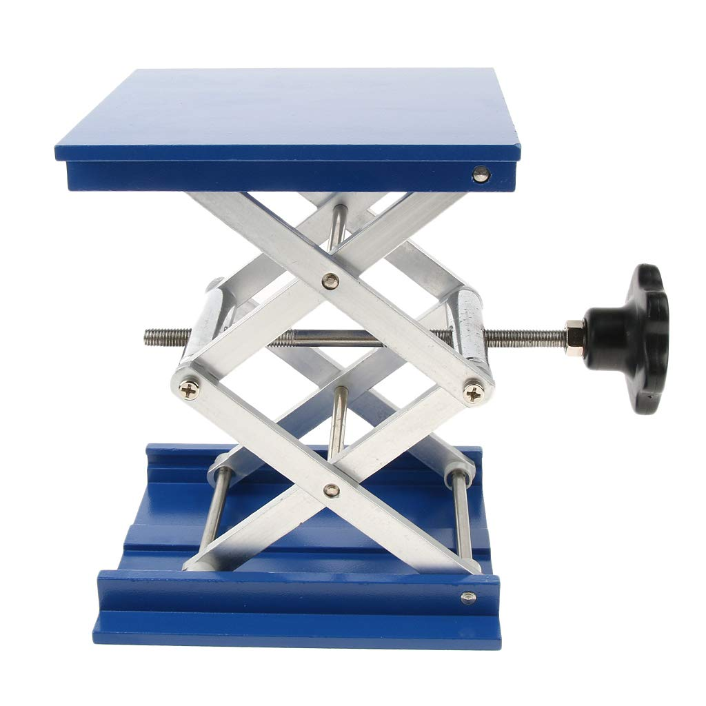 B Blesiya 150x150mm Lab-Lift Lifting Platforms Aluminum Stand Rack Scissor Lab Jacks