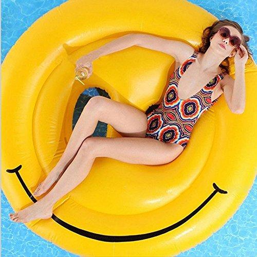 Vplay Aufblasbare Luftmatratze schwimmen Pool Liege Riesiges aufblasbares Schwebebett (smile)