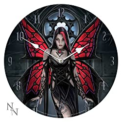 Anne Stokes Collection Aracnafaria - Gothic Spider Fairy Art Wall Clock By Anne Stokes