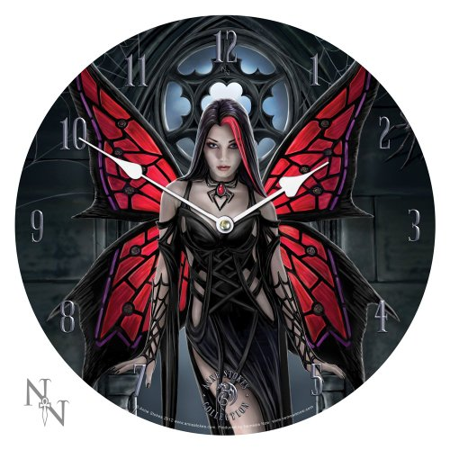 Anne Stokes Collection Aracnafaria - Gothic Spider Fairy Art Wall Clock By Anne -