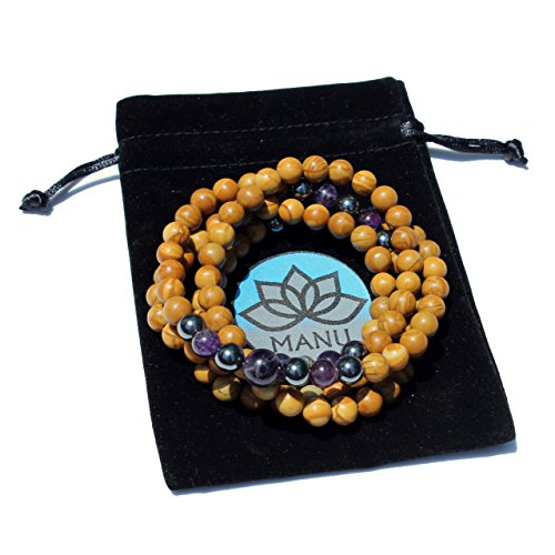 Mystic Woods Mala | 108 Count - Tibetan Buddhism Spiritual Prayer Beads Crystal Gemstone Necklace.