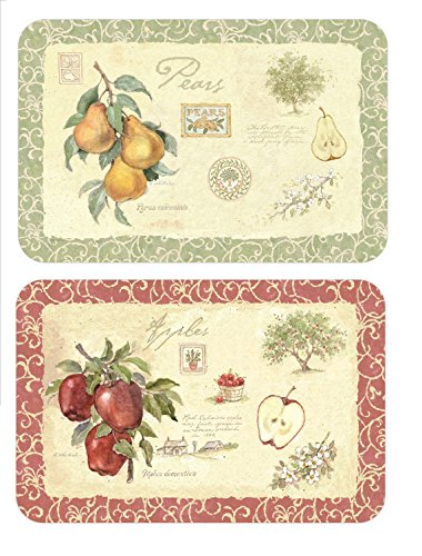 Wipe-Clean Reversible Plastic Placemats - Set of 4 - Old ...