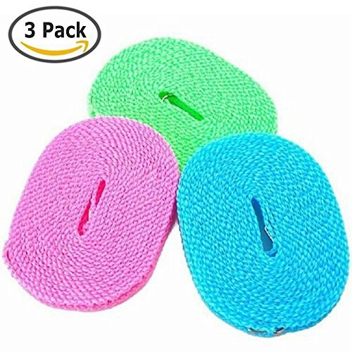 dewel-pack-of-3-clotheslines-5m-portable-windproof-clotheslines-nylon-clothes-rope-line-for-outdoor-