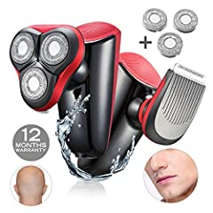 Why our shaver can trim hair? 1. Special blade design, powerful motor, with 0.14mm blade, can shave more perfectly.  With precision cut function, able to shave smoothly.   It's safe, without any cuts or frustration. 2. Double ring blades fo...