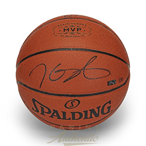 Kevin Durant Autographed 2013-2014 MVP Stamped Spalding Replica Basketball ~Limited Edition 35~ Panini Authentic