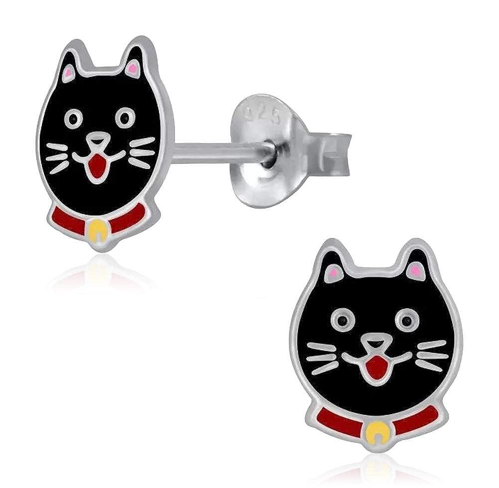 Laimons - Pendientes infantiles para niña, joyas para niños, gatos ...