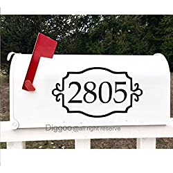Diggoo Personalized Mailbox Number Decal Custom Mailbox Sticker Vinyl Numbers Decal Home Decor New Home Gift