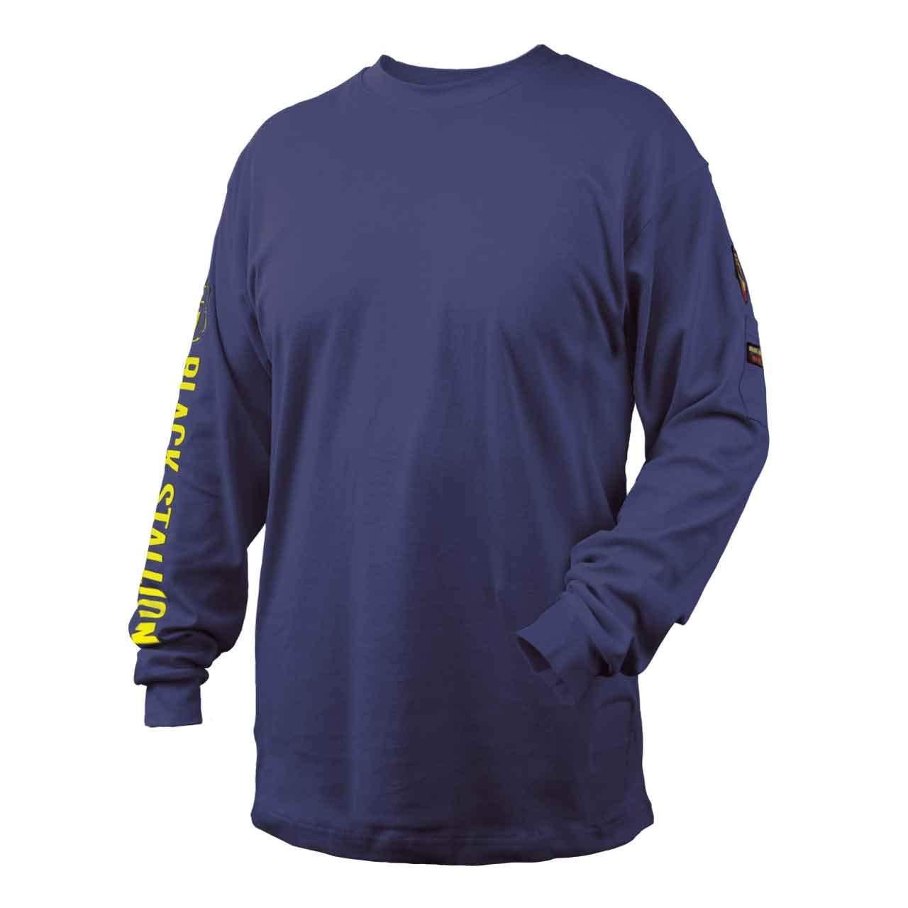 Black Stallion TF2510-NV NFPA 2112 & NFPA70E FR Cotton Knit Long-Sleev