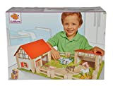 Eichhorn Wooden Toy Farm Set (25-Piece, Multi-Colour)
