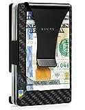 carbon fiber wallet - metal wallet-minimalist wallet for men-rfid blocking front pocket