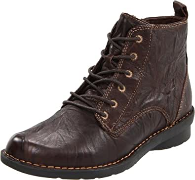 Amazon.com | Clarks Women's Nikki North Boot, Dark Brown