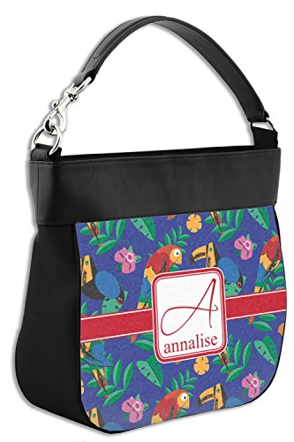 Leather amp; Parrots Purse Hobo w Genuine Toucans Front Trim Personalized wYqwO