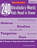 vocabulary for kids - 240 Vocabulary Words Kids Need to Know: Grade 5: 24 Ready-to-Reproduce Packets Inside!