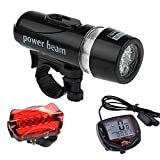 Futaba Combo 5 LED Bike Head Light, Rear Light and Speedometer