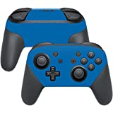 MightySkins Protective Vinyl Skin Decal for Nintendo Switch Pro Controller wrap cover sticker skins Solid Blue