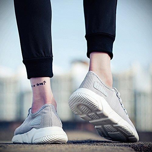 FZUU de Sport Chaussure Baskets Chaussures Lacets Sneaker Homme pour Fitness Homme Gris XICqXrw