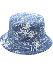 MIZOK Womens and Mens Bucket Hat Summer Packable Reversible Printed Fisherman Sun Cap