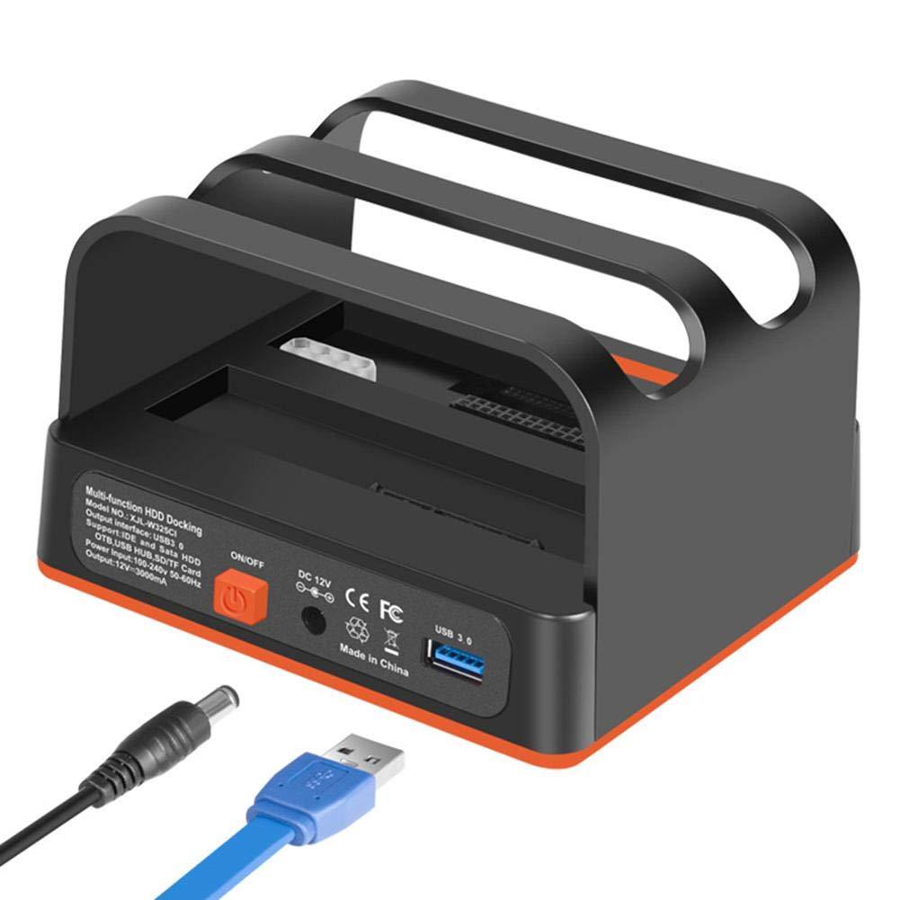 Wintesty USB 3.0 a SATA External HDD Three Bay Bock con 2 Puertos ...