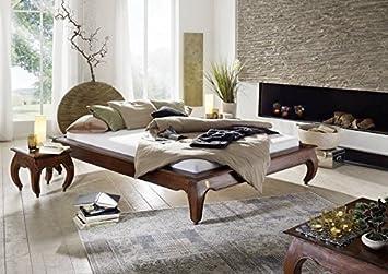 Massivmoebel24de Nougat Akazie Massivmöbel Bett 180x200