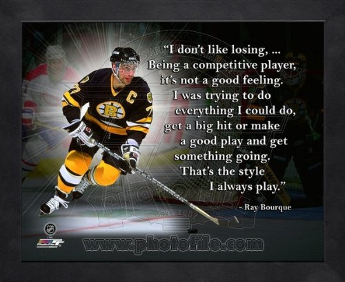 Ray Bourque Pittsburgh Penguins Pro Quotes Framed 11x14 Photo