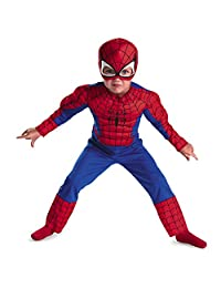 Disguise Costumes Toddler Spider-Man Muscle Costume Boy's Size: Large (4-6)