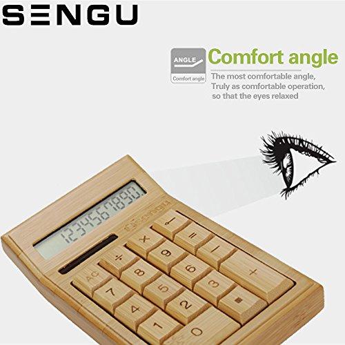 Sengu Wooden Calculators Function Desktop Calculator with Display