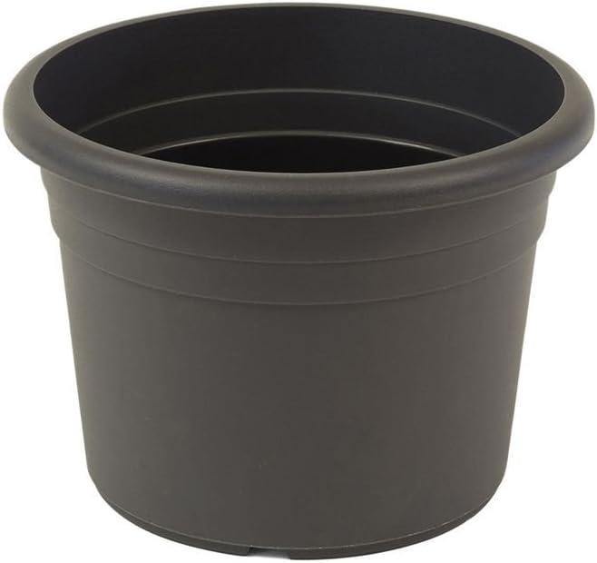 greemotion sembradora Fiona gris antracita - Flor 40cm pote - macetas 18L alrededor - Planter UV resistente plástico - plantador de las heladas - Sembradora con orificios inferiores - Acceso