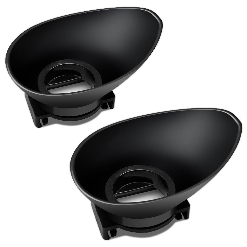 AFUNTA DK-19 Ocular de Goma 22mm para Nikon D7000 D5100 D5000 D3200 D3100 D3000 D90 D80, Paquete de 2 Visor Ocular de Recambio para la Cámara Réflex ...
