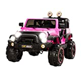 Uenjoy Kids Power Wheels 12V Ride on Cars Children's Electric Car with Remote Control 2 Speed Pink