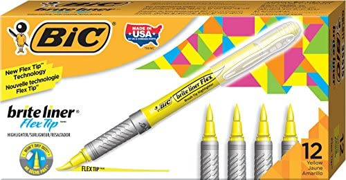 BIC Brite Highlighter Yellow 12 Count