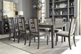 Cheap Chedoni Formal Wood Gray Color Dining Room Set: Rectangle Extension Table With 8 Chairs