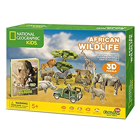 CubicFun National Geographic 3D Puzzle Arctic Tale Science Model for Kids with Booklet Ice and Snow White World