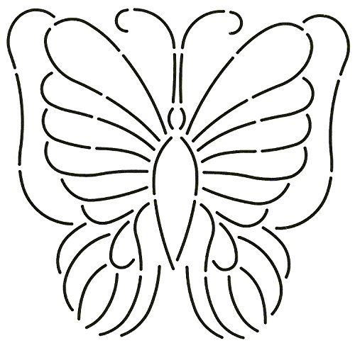 Quilting Creations Butterfly Quilt Stencil, 8 x 7-1/2'' by Quilting Creations